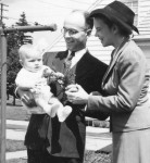 Phil and parents 1942